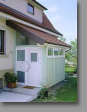 Haustür Windfang watzl wintergartenbau vordach haustüre